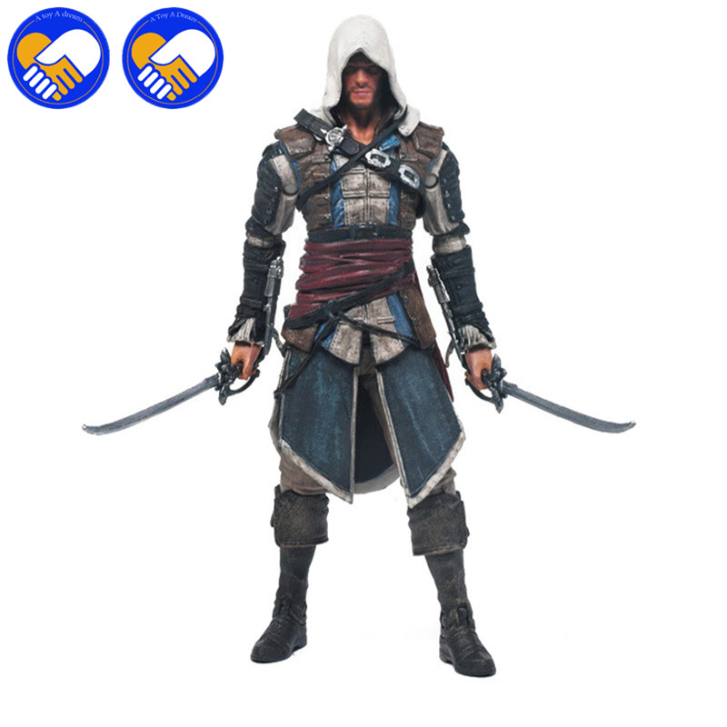 Action & Toy Figures Edward Neca Iv 4 Black Flag Edward Kenway Kangna Pvc Action Figure Toy 15cm 4 Styles Best Gifts For Collect