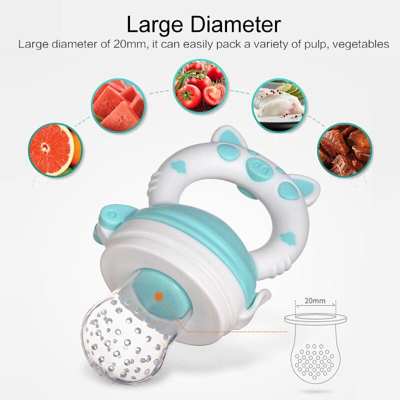Nowe świeże jedzenie Nibbler smoczki dla niemowląt smoczki