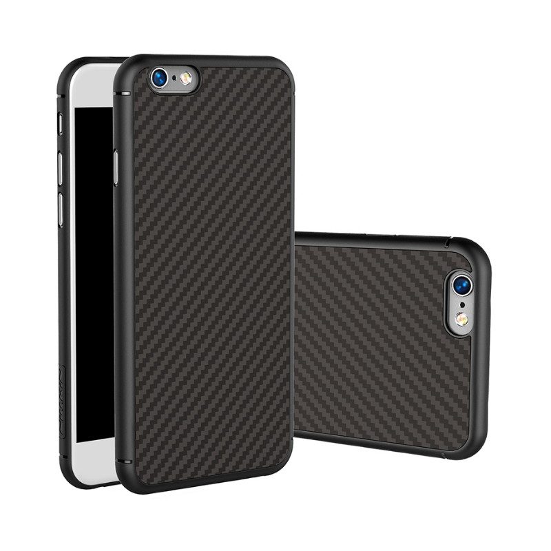 Nillkin hot shockproof synthetic fiber case for iphone 6 6s plus Hard Carbon Fiber PP Plastic Back Cover Case For apple iphone6s