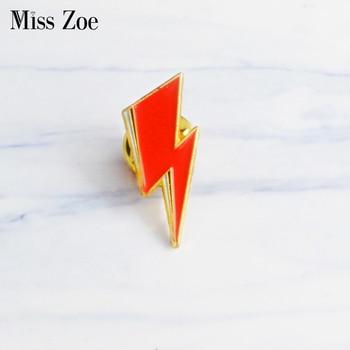 Aladdin Sane Lightning enamel pin David Bowie style Brooches Gift Art Glam Rock icons Pin Badge Gift for Rock fans men women 1