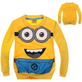 Despicable Me Minions Clothes Minion Kids Boys Girls Long Sleeve T-shirt Children's Clothing  Free Shipping