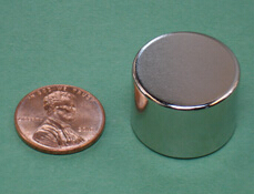 NdFeB Disc Magnet 7/8 dia.x5/8 thick Neodymium Permanent Magnets Grade N42 NiCuNi Plated Axially Magnetized ems SHIPPED 1 pack dia 4x3 mm jewery magnet ndfeb disc magnet neodymium permanent magnets grade n35 nicuni plated axially magnetized
