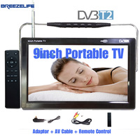 TV No 1 D7 Portable TV DVB T2 Portable TV DC12 9inch 9 Antenna With Battery