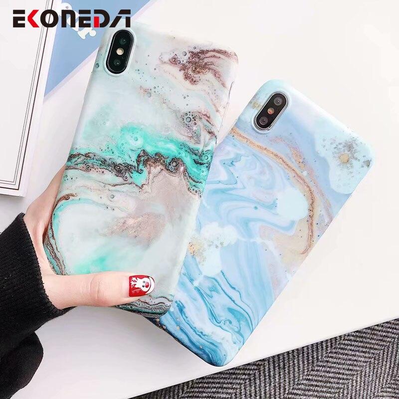 EKONEDA Soft Case For iPhone 7 Case Marble Patterned
