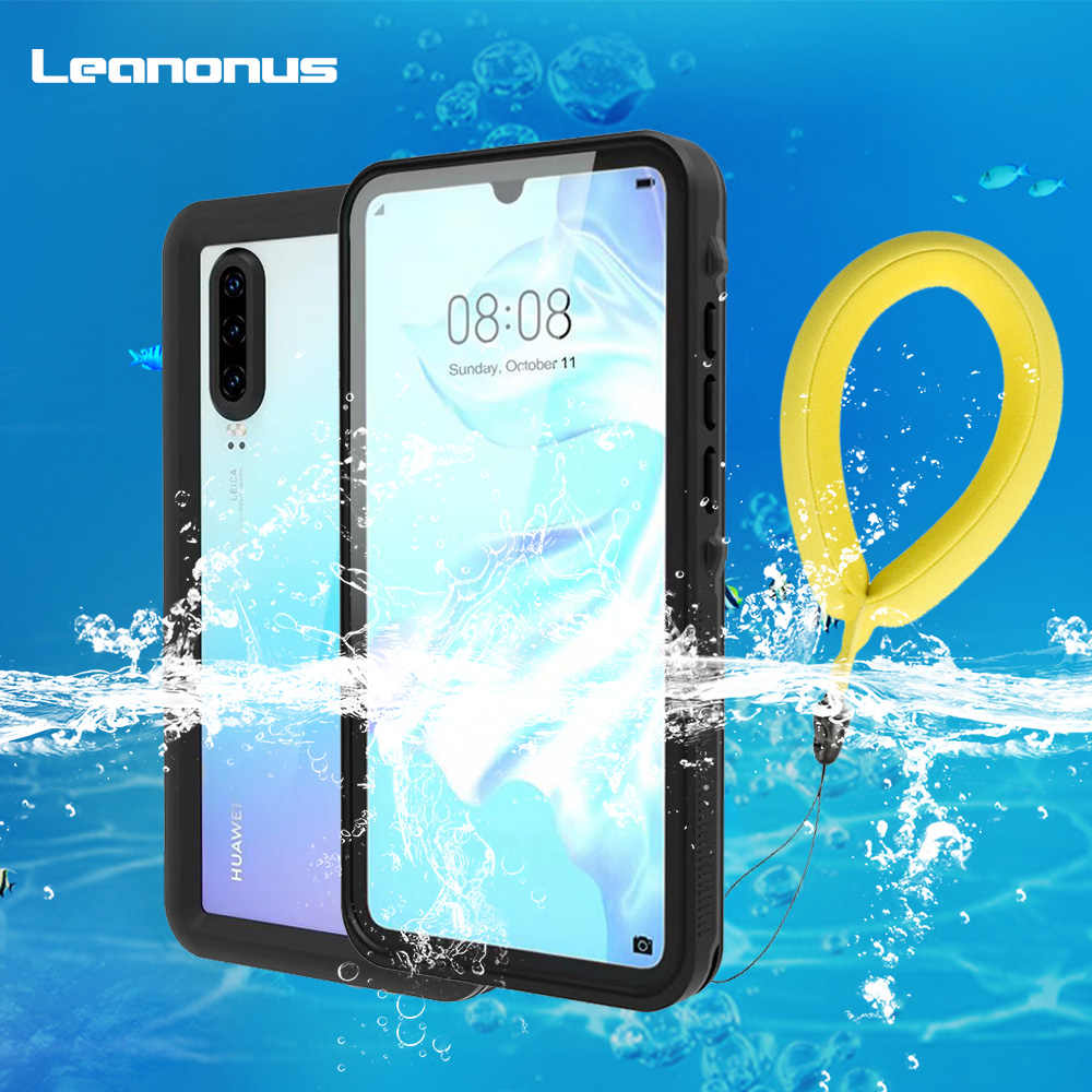 Leanonus For Huawei P30 P30 Pro Case IP68 Waterproof Diving Dustproof Cover for Huawei P30 Pro Phone Case Outdoor Sport Fundas