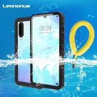 Leanonus For Huawei P30 P30 Pro Case IP68 Waterproof Diving Dustproof Cover for Huawei P30 Pro Phone Case Outdoor Sport Fundas