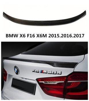 Auto Carbon Spoiler Für BMW X6 F16 X6M 2015.2016.2017 Hohe Qualität P Stil Heckspoiler Spoiler Auto Zubehör