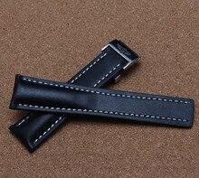 Promoción Suave Correa con cierre desplegable de acero Inoxidable de alta calidad de plata de lujo relojes para hombre accesorios 24mm