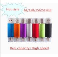 цена на SALE Smart Phone Tablet PC 64GB 128GB 256GB 512GB pen drive OTG external storage U Disk memory stick usb 2.0 USB Flash Drive otg