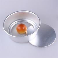 Optional Sizes Loose Base Round Cake Baking Form Anodized Aluminum Sponge Chiffon Cake Baking Mold Metal