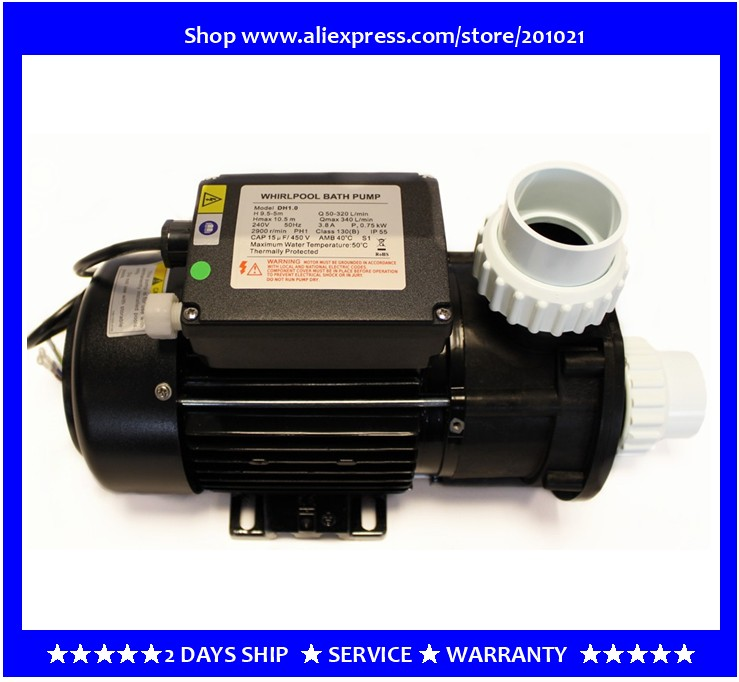 Pompe de piscine LX DH1.0 avec interrupteur à bouton d'air chine fournitures d'entretien de SPA pompe de bain à remous LX modèle DH1.0