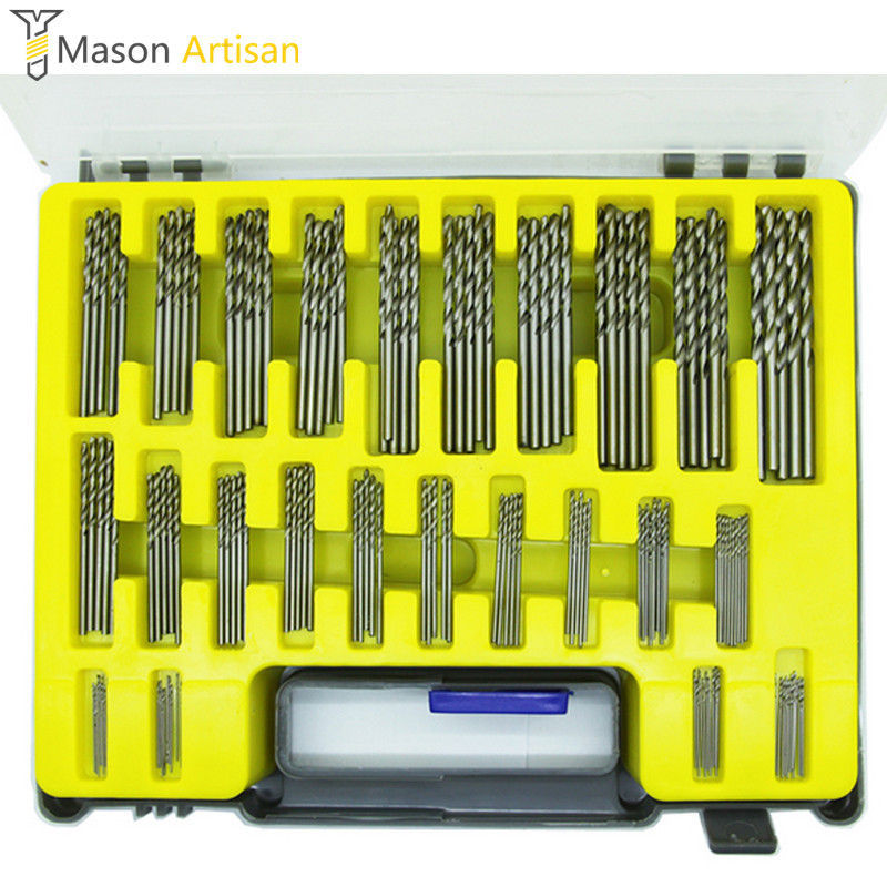 150Pcs/Set Mini Drill Bit Set 0.4-3.2mm HSS Microtech Power Tool Accessories Herramientas Electric Drilling Machine in Case new 50mm concrete cement wall hole saw set with drill bit 200mm rod wrench for power tool