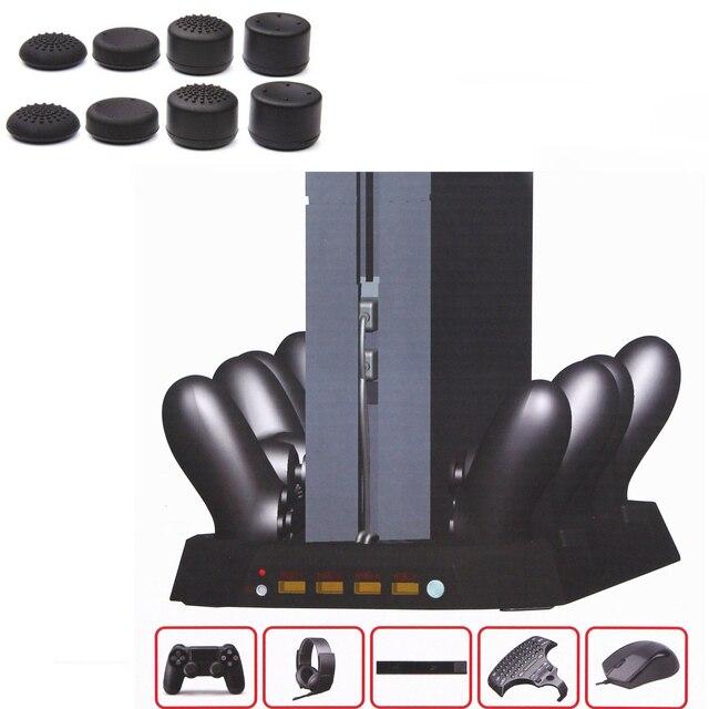 100% Высокое Качество Супер Консоль для Playstation 4 PS4 Зарядки Док ж/охлаждающий Вентилятор и 4 Контроллер Зарядное Устройство и 4 порта usb 10 в 1