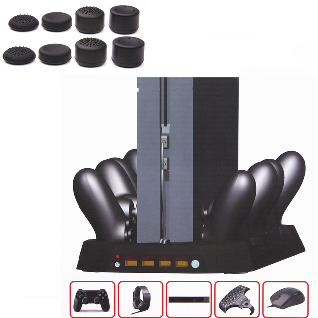 100% High Quality Super Console for Playstation 4 PS4 Charging Dock w/ Cooling Fan & 4 Controller Charger & 4 usb ports 10 in 1