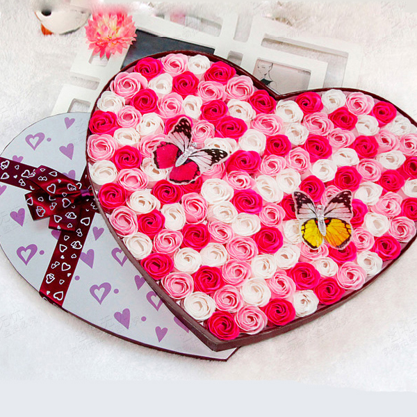Superior Beautiful Gifts For Women Part - 11: Birthday Gift Ideas For Women Girlfriend High Quality 100 Beautiful Mix  Colors Heart Shaped Rose Red Pink Flower Soap On Aliexpress.com | Alibaba  Group