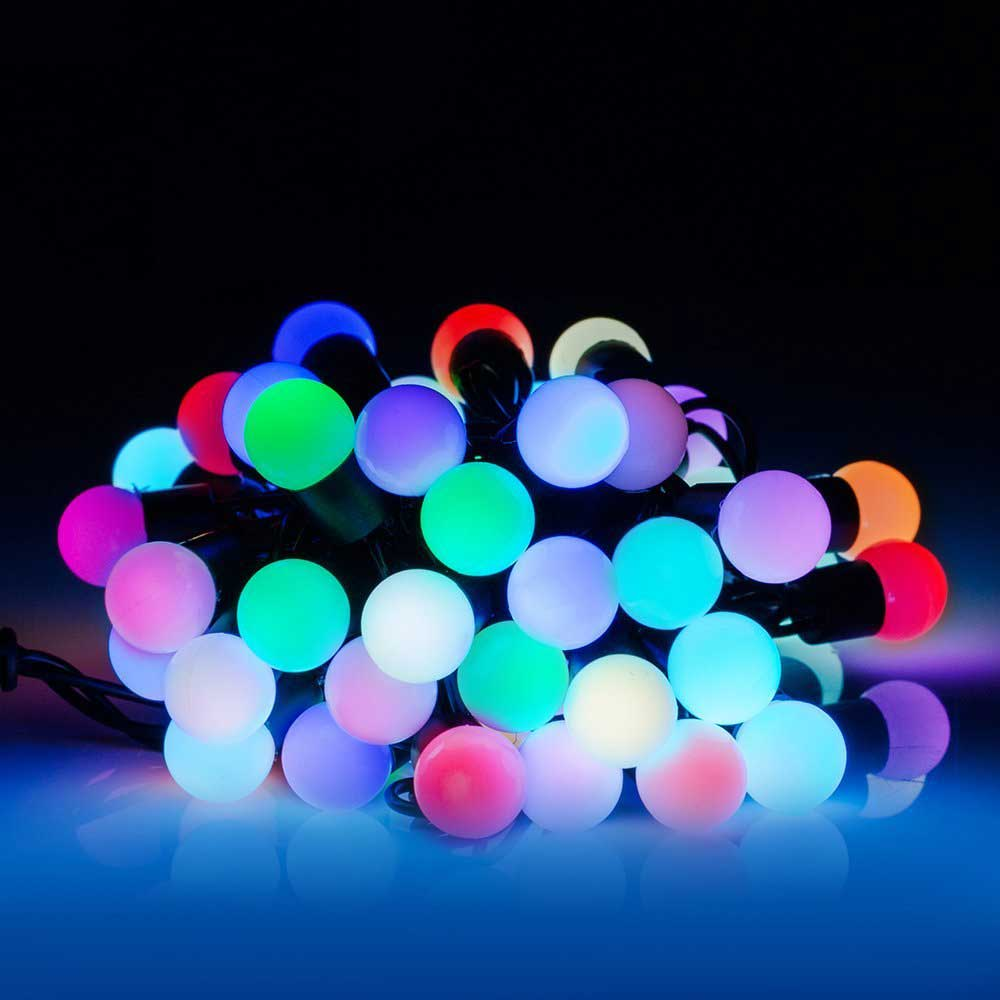 Christmas 50 Led 16 4ft Rgb Ball Lights Color Change