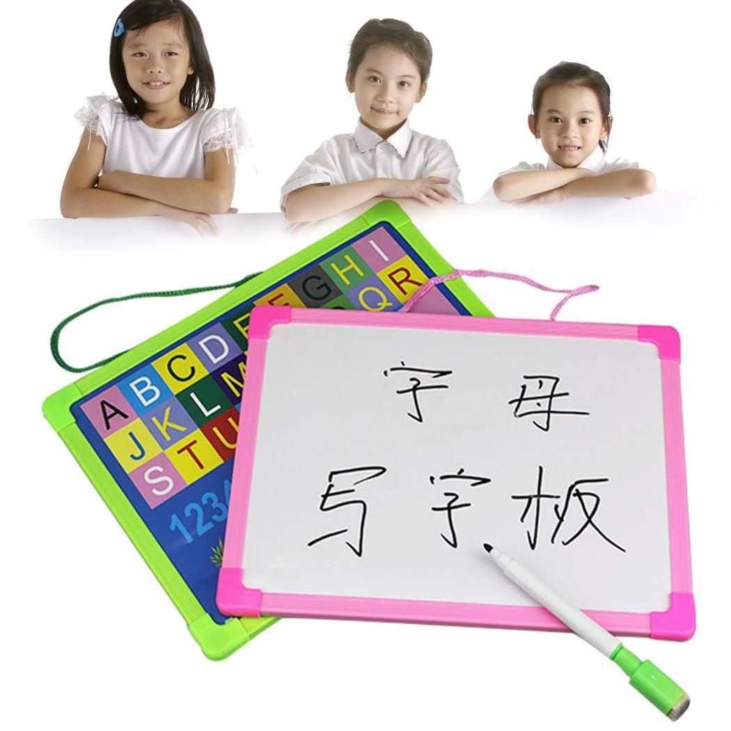 Kids Portable Rewritable Whiteboard Painting Writing Drawing Attachment Pen Board > 3 Years Old About 70g