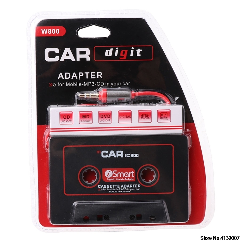 HOT Audio Car Cassette Tape Adapter Converter 3.5 MM for iPhone iPod MP3 AUX CD