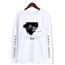 New t-shirts Rep nipsey hussle Print Women and Men Clothes 2019 Casual Hot Sale Summer Long Sleeve Casual T-shirts Plus Size rolsen rep 212 green