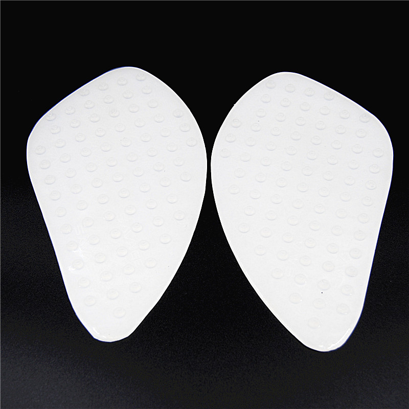 Motorcycle Tank Traction Pad Side Gas Knee Grip Protector CBR600 1000 RR CB400 Anti Slip Fuel Sticker Transparent White Black