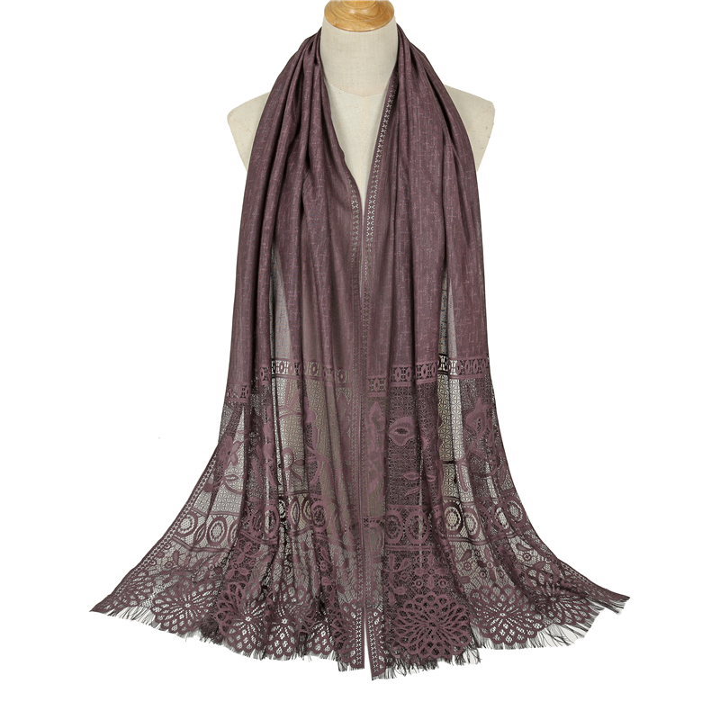 Lace Hollowed Out Scarves For Women 2019 Fashion Tassels Shawls And Wraps Long Winter Neck Scarf Muslim Hijab Bandana Pashmina
