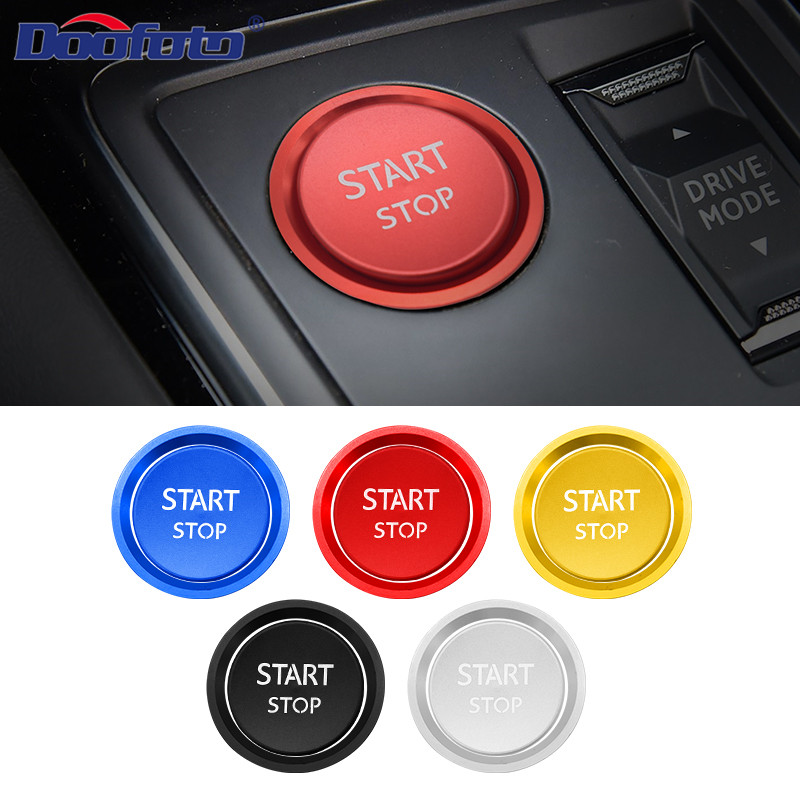 Doofoto Car Interior Sticker Start Stop Button Cover Case Accessories Styling For Peugeot 308 408 508L 2008 3008 4008 5008