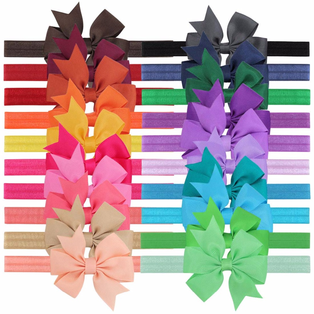 THBOXES Naturalwell Small Girls Big Bow Headband Newborn Bebe Hair Accessories Elastic Hair Bands Cute Baby Girls Headbands 15pcs lot stretch elastic tutu headbands diy headband hair accessories 1 5 inch crochet headband free shipping 33colors in stock