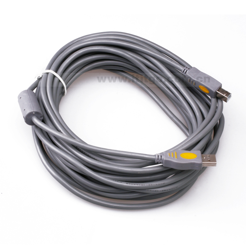 New Arrival Durable High Speed 10M 33ft USB 2.0 Printer Extension Cable AM to BM Male For Printer Scanner Free Shipping black high speed od4 0 5gbps standard usb3 0 usb 3 0 b type male am to bm printer cable thin cord connector wire 60cm 0 6m 2ft