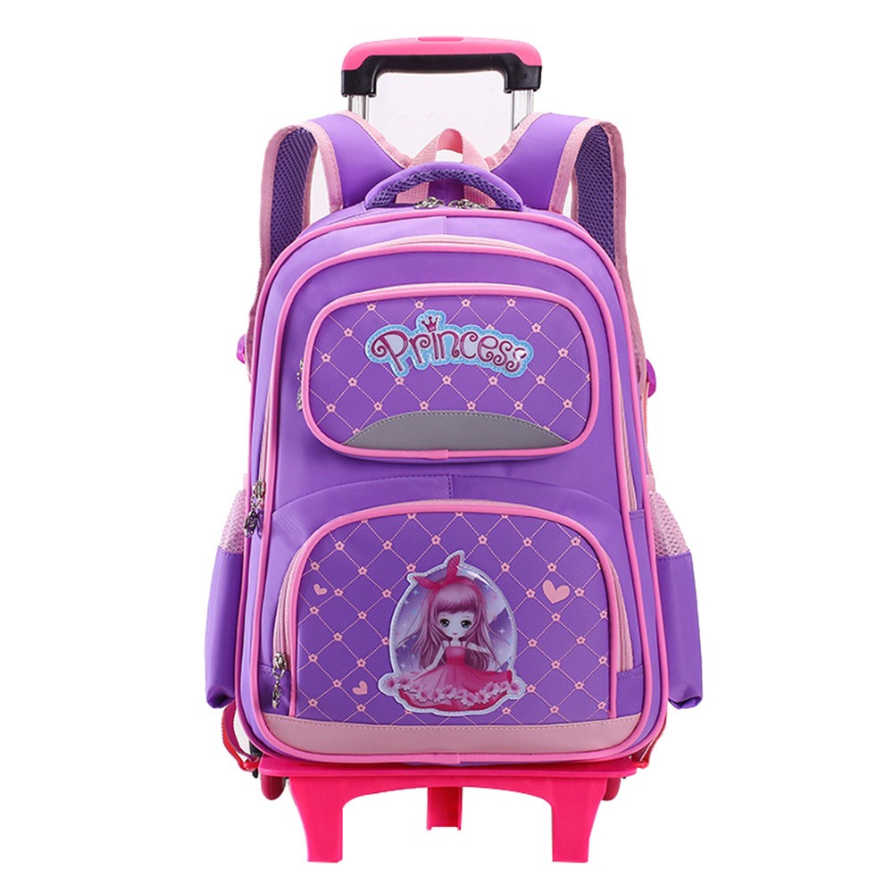 Hot New Removable Children School Bags with 2/3 Wheels for Girls Trolley Backpack Kids Wheeled Bag Bookbag travel luggage