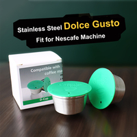 STAINLESS STEEL Metal Reusable Dolce Gusto Capsule Compatible with dolce gusto coffee Machine Refillable Reusable capsule