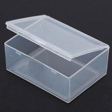 5.5*4.3*2.2cm Mini Storage Box Portable Jewelry organizer Transparent Plastic Name Card Jewelry Organizer Storage Box Case MS514