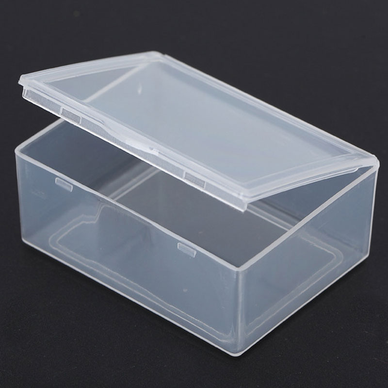 554322cm mini storage box portable jewelry organizer transparent plastic name card