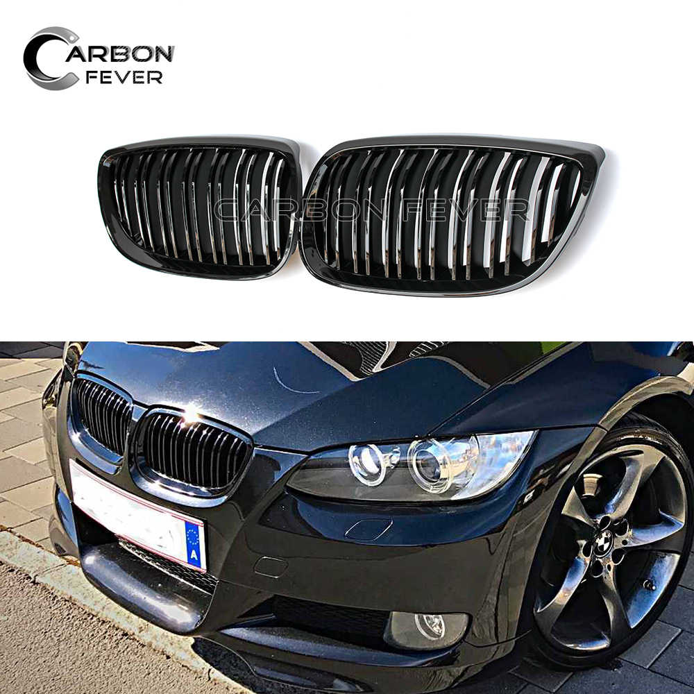 For BMW 3 Series E90 M3 E92 Coupe E93 Cabriolet Double Line Racing Grille Profession Pre-LCI Grills 2006-2009 316i 3186i 320i