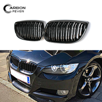 For BMW 3 Series E90 M3 E92 Coupe E93 Cabriolet Double Line Racing Grille Profession Pre LCI Grills 2006 2009 316i 3186i 320i