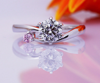 Brand New 1 Carat SONA Synthetic Diamond Fashion Ring 925 Sterling Silver Wedding Ring Female Jewelry