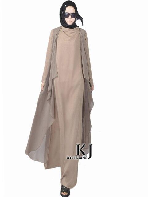 2015 Мусульманская шелк кардиган с платье djellaba турецкие женской одежды длинное пальто моды в дубаи две части подключения кардиган пиджаки