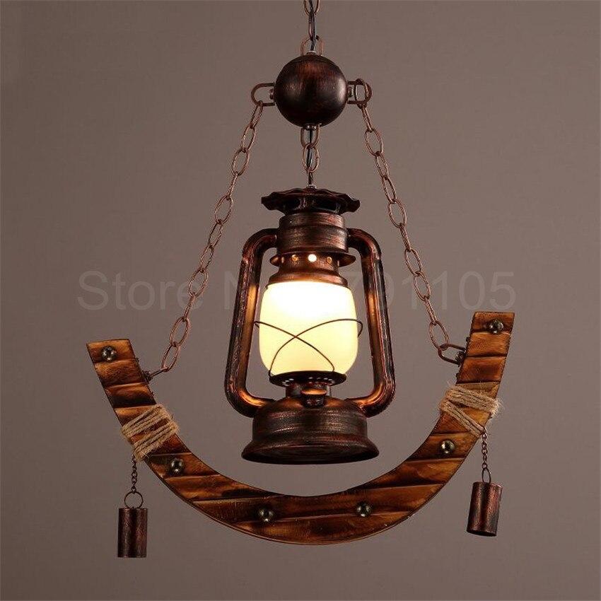 retro pendant lamp rural creative kerosene lamp old fashioned