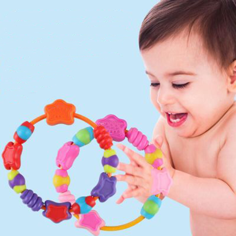 Baby Silicone Toys Teether Pacifier Teething DIY Silicone Toddler Infant Free Necklace For Kid Bite Toys in Baby Teethers from Mother Kids