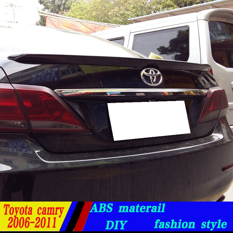 use for toyota camry lip spoiler 2006 2011 camry lip spoiler with light high quality abs. Black Bedroom Furniture Sets. Home Design Ideas