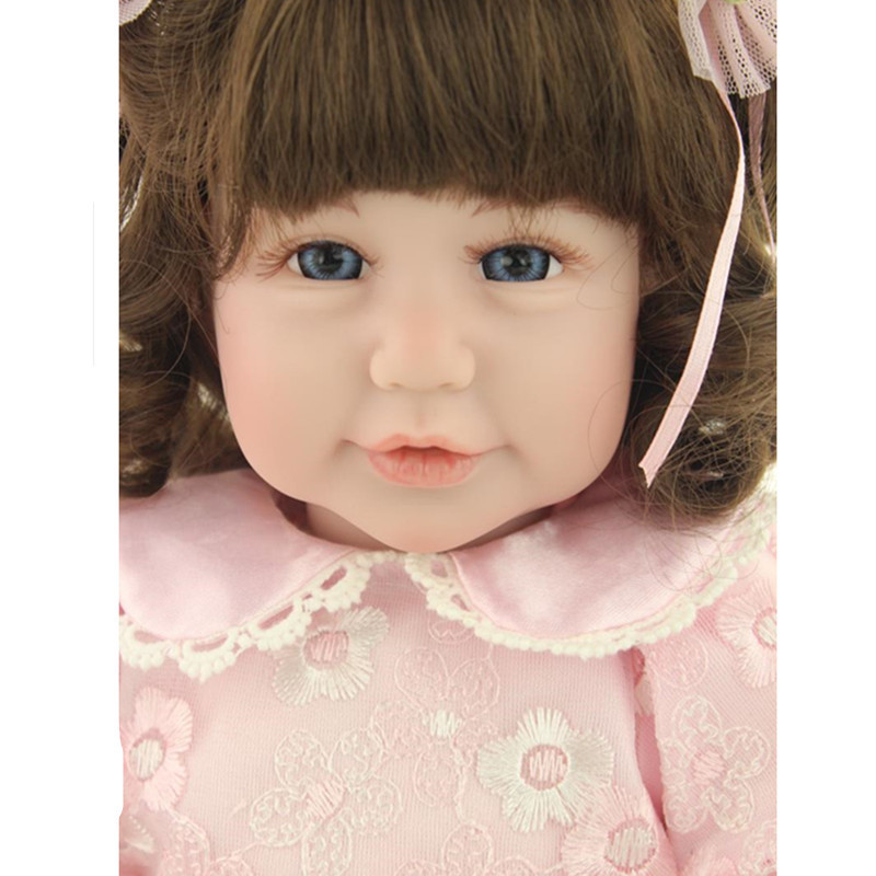 Cute Adorable Wavy Hair Girls Doll with Clothes,19 Inch Vivid Princess Doll Vinyl Doll Toys for Children Christmas Gift 9 inch girl doll princess doll with clothes vivid vinyl doll toys for children christmas present