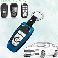 Fashion Remote Car Key Case Auto Protective Key Cover Skin Shell For Ford Escort Mondeo Everest Ranger Fusion Car Accessories