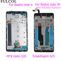 Top Quality LCD Display Touch Screen Digitizer Assembly Frame For Xiaomi Redmi Note 4 MTK Helio