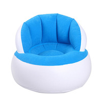 Inflatable Chair Bean Bag Cover Crown Baby Chair Baby Support Seat Inflatable Sofa Lazy Kid Chair for Children Home Living Room
