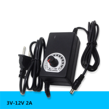 50 PCS/LOT Universal power adapter Adjustable AC 100V-240V to DC 3V-12V Multiple protection features Regulated supply adatpor 2A