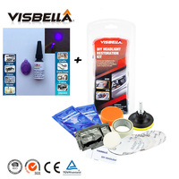 Visbella Restore Faded Hazy Plastic Headlight Lens Renewal Kit For Car Headlamp Motocycle Head Light Lamp