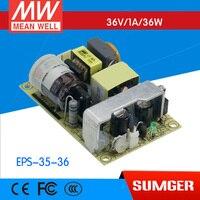 (CB) EPS-35-36 36 V 1A meanwell MEAN WELL originale EPS-35 36 V 36 W a Una Uscita di Commutazione di Alimentazione fornitura