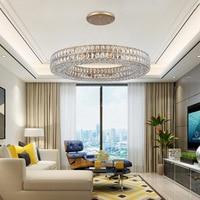 Goud Amerikaanse Stijl Retro Kroonluchters LED Kristallen Verlichting Voor Woonkamer Slaapkamer Hal Hotel Restaurant Eetkamer Fashion|Kroonluchters|   -