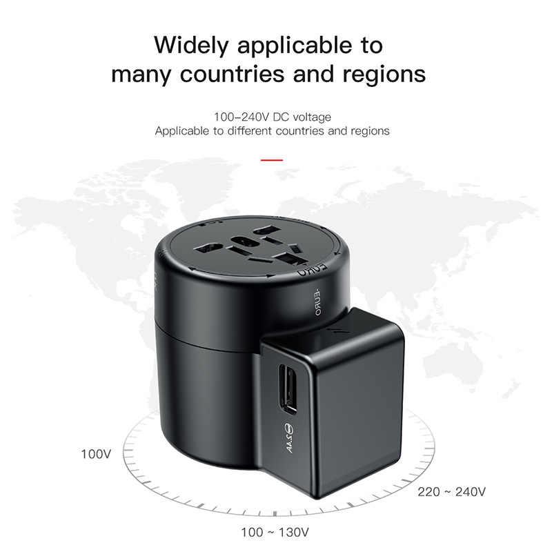 Универсальное зарядное устройство Baseus USB для путешествий Samsung Galaxy S8 S9 Plus Whirl USB с питанием от переменного тока портативный адаптер зарядного устройства для телефона