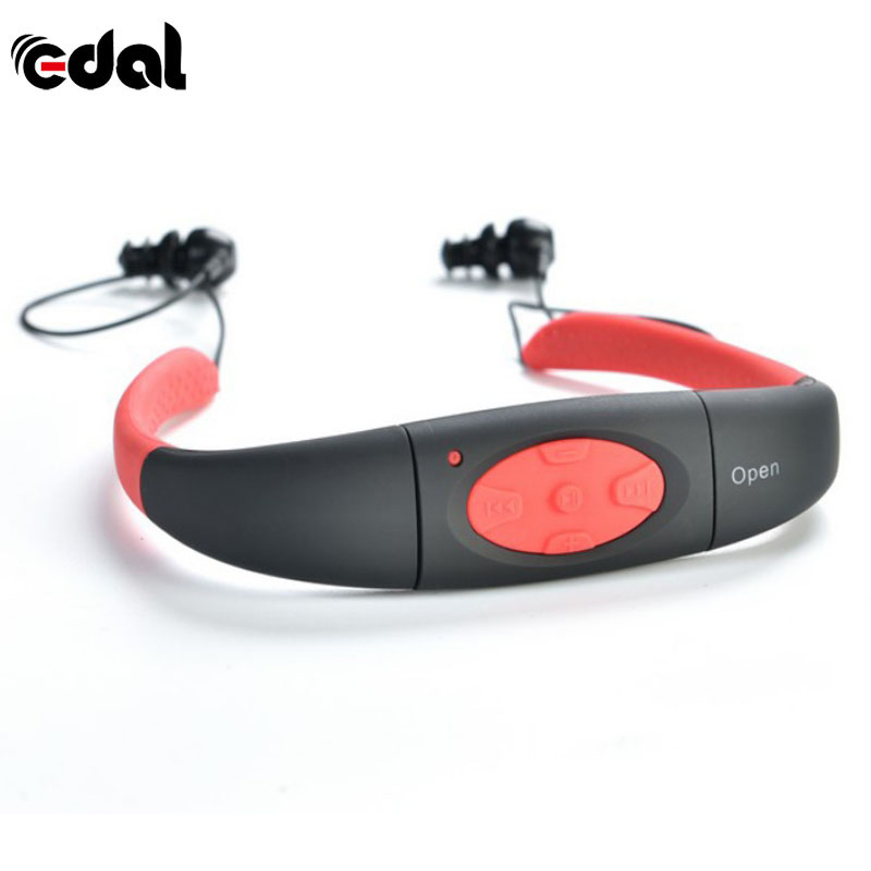 EDAL KYK-168 Waterproof 4/8GB MP3 Underwater Music Player Stereo Bluetooth Earphone  Audio for Swimming Sport New
