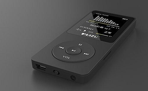 """Tela de 1.8 """"TFT RuiZu X02 HiFi 8G Reprodutor de Música Esporte Mp3 Player FM Gravador de Cartão do TF da Sustentação"""